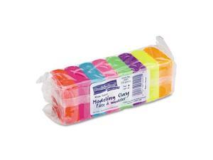 Modeling Clay Assortment, 27 1/2G Each Assorted Neon,220 G