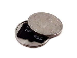 Covert Hollow Spy Coin Micro SD Card Holder (Nickel)