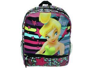 """Tinkerbell Fairies 16"""" Silk Printed Kids School Backpack"""