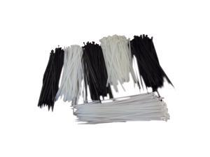 """100pk 12"""" Utility Cable Zip Ties (White 8MM)"""