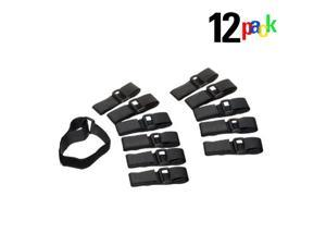 12pc D-Ring Adjustable Multi-Purpose Velcro Quick Straps