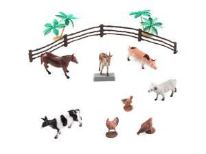 16pc Farm Animals Bucket Set w/ Play Mat
