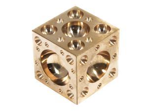 "Polished Brass 1.5"" Metalworking Dapping Block"