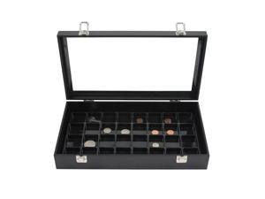 Glass Top Jewelry Display Box & 32 Compartment Liner Tray