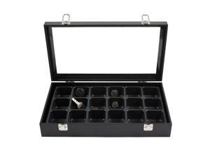 Glass Top Jewelry Display Box & 18 Compartment Liner Tray