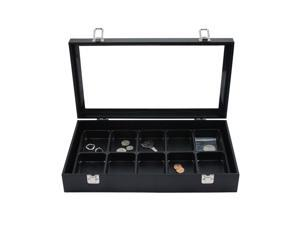 Glass Top Jewelry Display Box & 10 Compartment Liner Tray