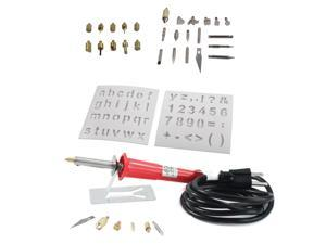 37pc Wood Burning Pen & Assorted Soldering Tips Stencil Set