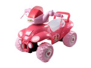 Princess Kids ATV Ride on Toy Steerable Car Lights and Sounds