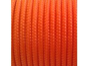 Sleeved Spectra Kevlar Cord - Orange 1000 feet 325lbs Strength