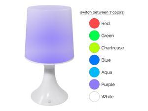 LED Color Changing Mini Mood Light Bedside Table Lamp (2 Pack)