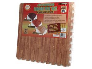 64 Square Foot Foam Interlocking Wood Grain Floor Tile Mat - Oak