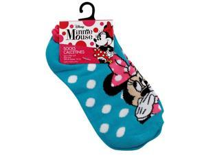 Disney Minnie Mouse Girls Ankle Socks Blue Size 6-8