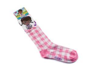 Disney Doc McStuffins Girls Knee High Socks Size 6-8 (Pink)