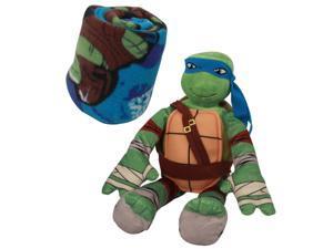 Teenage Mutant Ninja Turtles Kids Blanket with Leonardo Doll