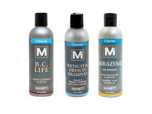 M Essentials Wetsuit Drysuit Shampoo Mirazyme Odor Eliminator BC Life Bundle
