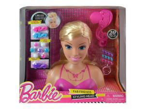 Mattel Barbie Pretend Play Styling Hair Doll Head with Accessories