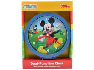 Disney Mickey Mouse Analog Dual-Function Clock 6 inch