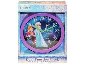 Disney Frozen Princess Elsa Dual-Function Clock 6 inch