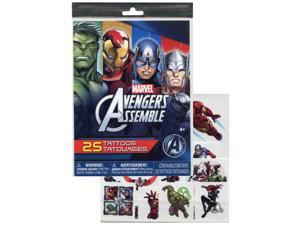 Marvel Officially Licensed Avengers Temporary Tattoos 25pc