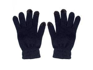 Universal Touchscreen Gloves Winter Weather Smartphone and Tablet Screens Blue