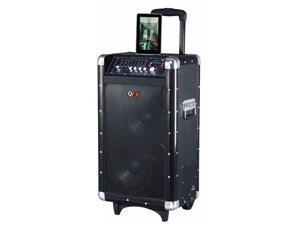 QFX PBX-3080BT Portable Bluetooth PA Speaker, Black