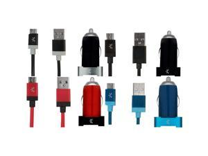 Case Logic 2.1 Amp. Micro Dual Usb Vehicle Charger - Assorted Colors