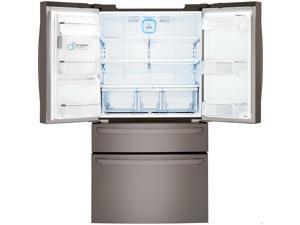 LG  23 Cu.Ft Black Stainless Counter Depth 4-Door French Door Refrigerator