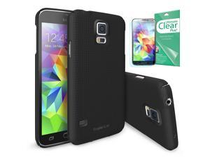 Samsung Galaxy S5 Case - Ringke SLIM [DOT BLACK][FREE HD Film / BETTER GRIP] Full Top and Bottom Coverage Premium Dual ...