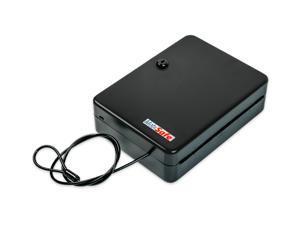 MobiSafe SL-8500-KB Portable Car Gun Safe With Black Disc Tumbler Cam Lock
