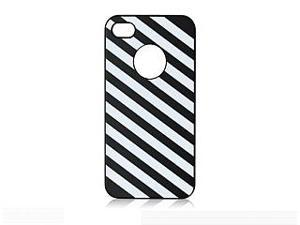 iShell Zebra Series Hard Thin Back Cover for iPhone 4 / 4S - Black/White