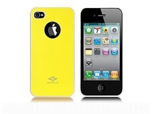 iShell Bi-Color Series Skin-Fit Back Cover for iPhone 4/4S - Yellow/White (Summer Edition)