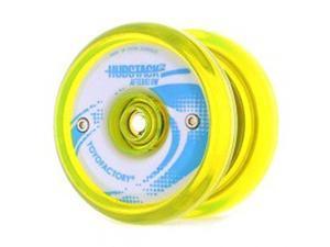 YoYoFactory Hubstack Afterglow Yo-Yo - Glow White Hubs and Neon Yellow