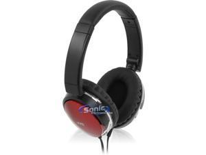 JVC HAS660R Noise Isolating Over-Ear Stereo Headphones (Red HA-S660)