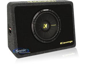 Kicker TCompS 10inch Truck Subwoofer and Enclosure