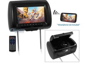 """Concept CLD903M9"""" LCD Headrest w/ Wireless Screencasting, 3 Color Covers & Built-In Disc Player"""