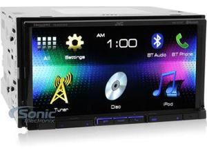 JVC KW-V41BT DVD/CD/USB Receiver with 7-inch WVGA Touch Panel Monitor and Built-in Bluetooth
