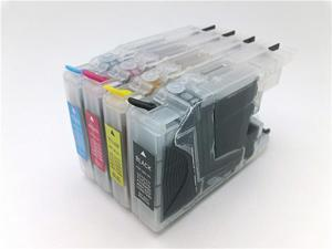 Refillable Ink Cartridge Set for Brother LC71 LC75 LC 71 LC 75 cartridges MFC-J280W MFC-J425W MFC-J430W MFC-J435W MFC-J5910DW MFC-J625DW MFC-J6510DW MFC-J6710DW MFC-J6910DW MFC-J825DW MFC-J835DW