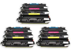 12PK [ TN210 BK C M Y ] TN-210 (BK,C,M,Y) Remanufactured Brother Black Cyan Magenta Yellow Laser Toner Cartridge DCP-9010CN, HL-3040CN, HL-3070CW, MFC-9010CN, MFC-9120CN, MFC-9320CN, MFC-9320CW
