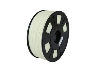 WyzWorks® 3D Printer Filament 3mm ABS White - Glow Green 1kg/2.2lb RepRap MarkerBot