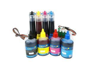 Cisinks ® Continuous Ink Supply System with Ink Set for Epson Workforce WF-3620 WF-3640 WF-7110 WF-7610 WF-7620 Printers - T252 CISS