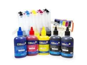 Cisinks ® EMPTY Continuous Ink Supply System with Pigment Ink Bottle Set - 500ml for Epson Expression Premium XP-600 XP-800 XP-610 XP-810 XP-520 XP-820 XP-620