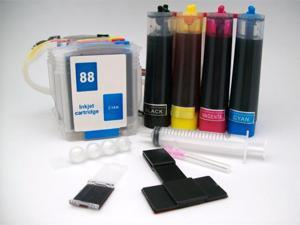 Continuous Ink Supply System for HP 88 HP88 Cartridges Office Jet Pro Printers CISS CIS Cartridge