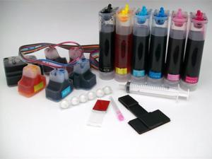 Pre-Filled Continuous Ink Supply System for HP 02 HP02 Cartridges Photosmart Printers CISS CIS Cartridges
