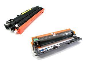 Cisinks ® 2 Pack Compatible Toner Cartridge and Drum unit ( 1 TN210Y, 1 DR210Y ) TN-210Y DR210CL DR-210Y For Brother DCP-9010CN HL-3040CN HL-3070CW MFC-9010CN MFC-9120CN MFC-9320CN