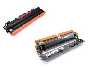 Cisinks ® 2 Pack Compatible Toner Cartridge and Drum unit ( 1 TN210M, 1 DR210M ) TN-210M DR210CL DR-210M For Brother DCP-9010CN HL-3040CN HL-3070CW MFC-9010CN MFC-9120CN MFC-9320CN