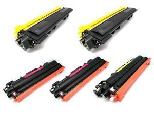 Cisinks ® 5PK NEW TN-210 TN210BK *2 TN210C *1 TN210M *1 TN210Y *1 Toner Cartridges for Brother DCP-9010CN, HL-3040CN, HL-3070CW, MFC-9010CN, MFC-9120CN, MFC-9320CN, MFC-9320CW