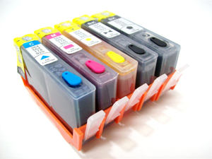 Cisinks ® Refillable Ink Cartridge Set for HP 564 & HP 564XL Cartrdiges and PhotoSmart Printers
