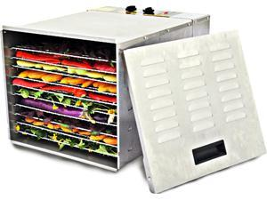 Cisinks 1200 Watt 10-Tray Stainless Steel Professional Food Dehydrator