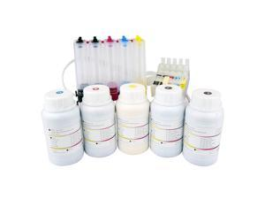 [EMPTY CISS With Pigment ink Set - 1250ml] for Epson C120 Workforce WF 30 310 315 1100 Printers