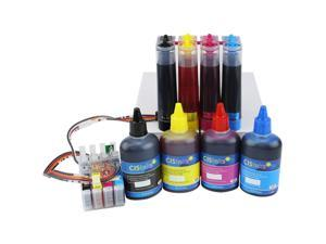 Cisinks ® Continuous Ink Supply System With Ink Bottle Set for Epson Expression XP-310 XP-410 CISS CIS Printers